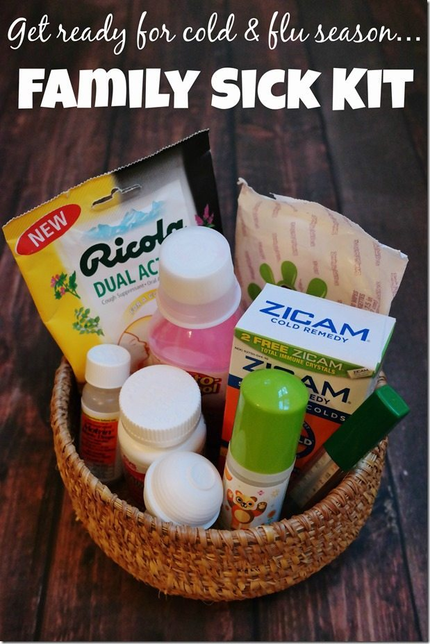 Make a family sick kit for cold and flu season