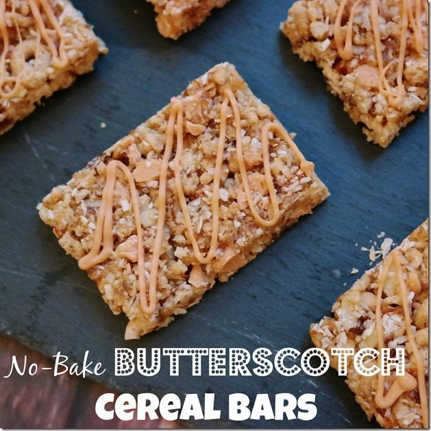 No-Bake Butterscotch Cereal Bars