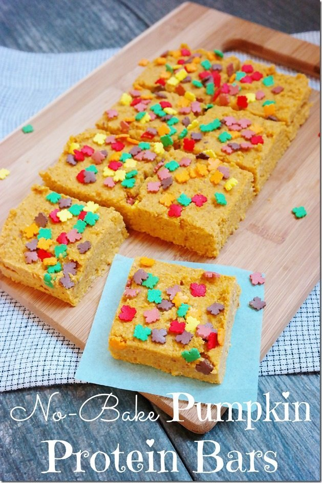No-Bake Pumpkin Protein Bars