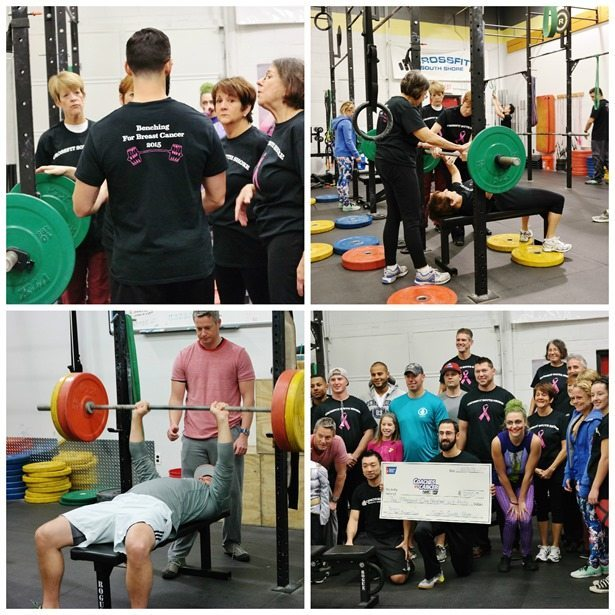 CrossFit South Shore Benching for Breast Cancer 2015