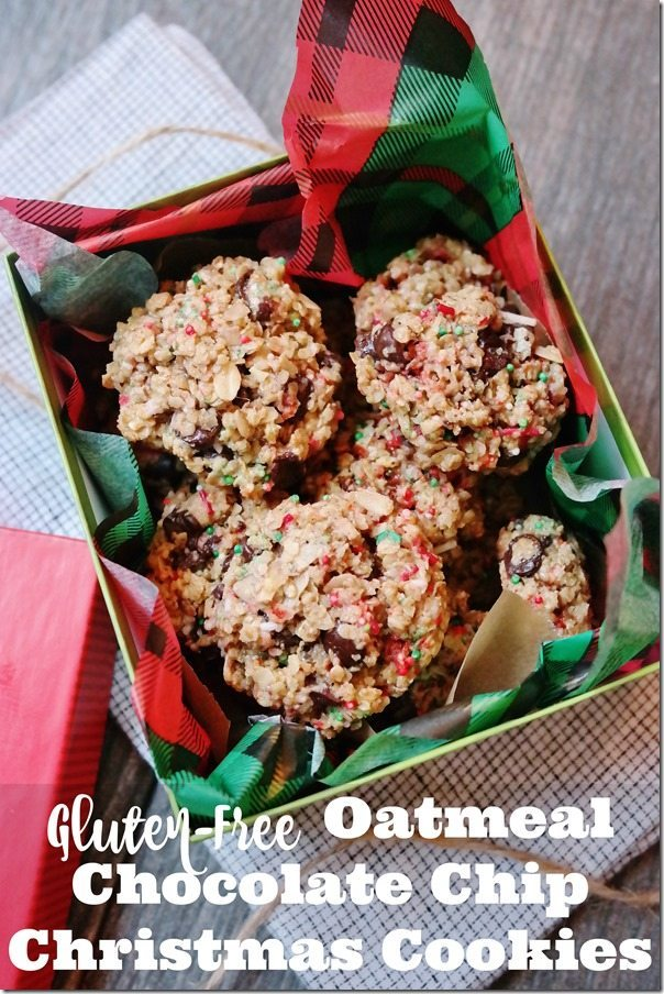 Gluten-Free Oatmeal Chocolate Chip Christmas Cookies
