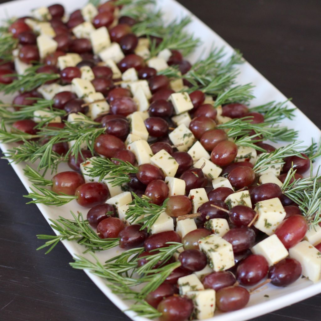 Grape-Fontina-Rosemary-Skewer