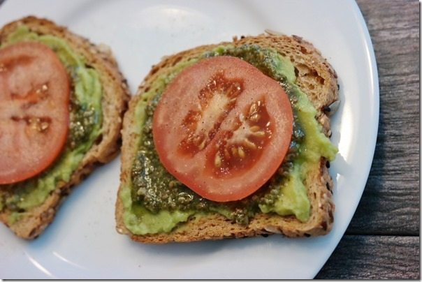 pesto lunch idea