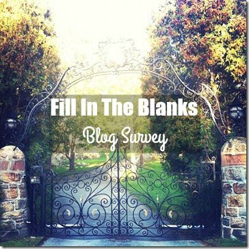 Fill in the Blanks Blog Survey