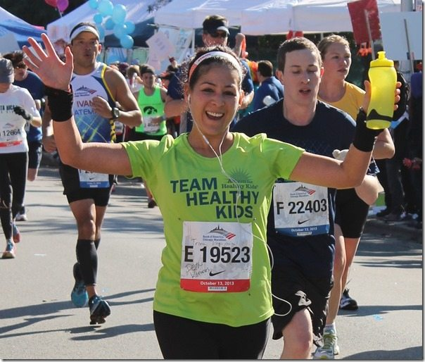 Woman Running Chicago Marathon 2013 - Copy