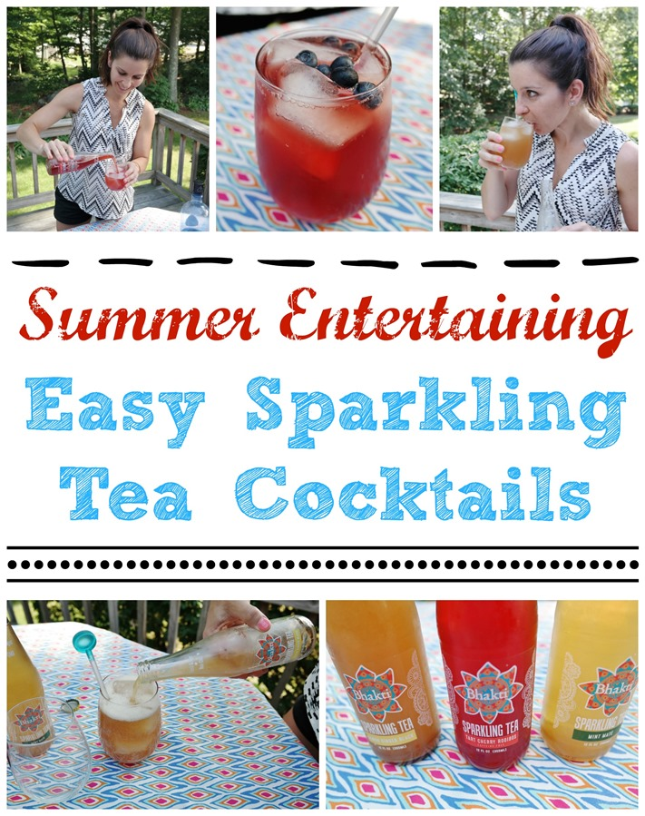 Summer Entertaining Easy Sparkling Tea Cocktails