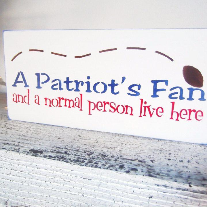 patriots fan sign