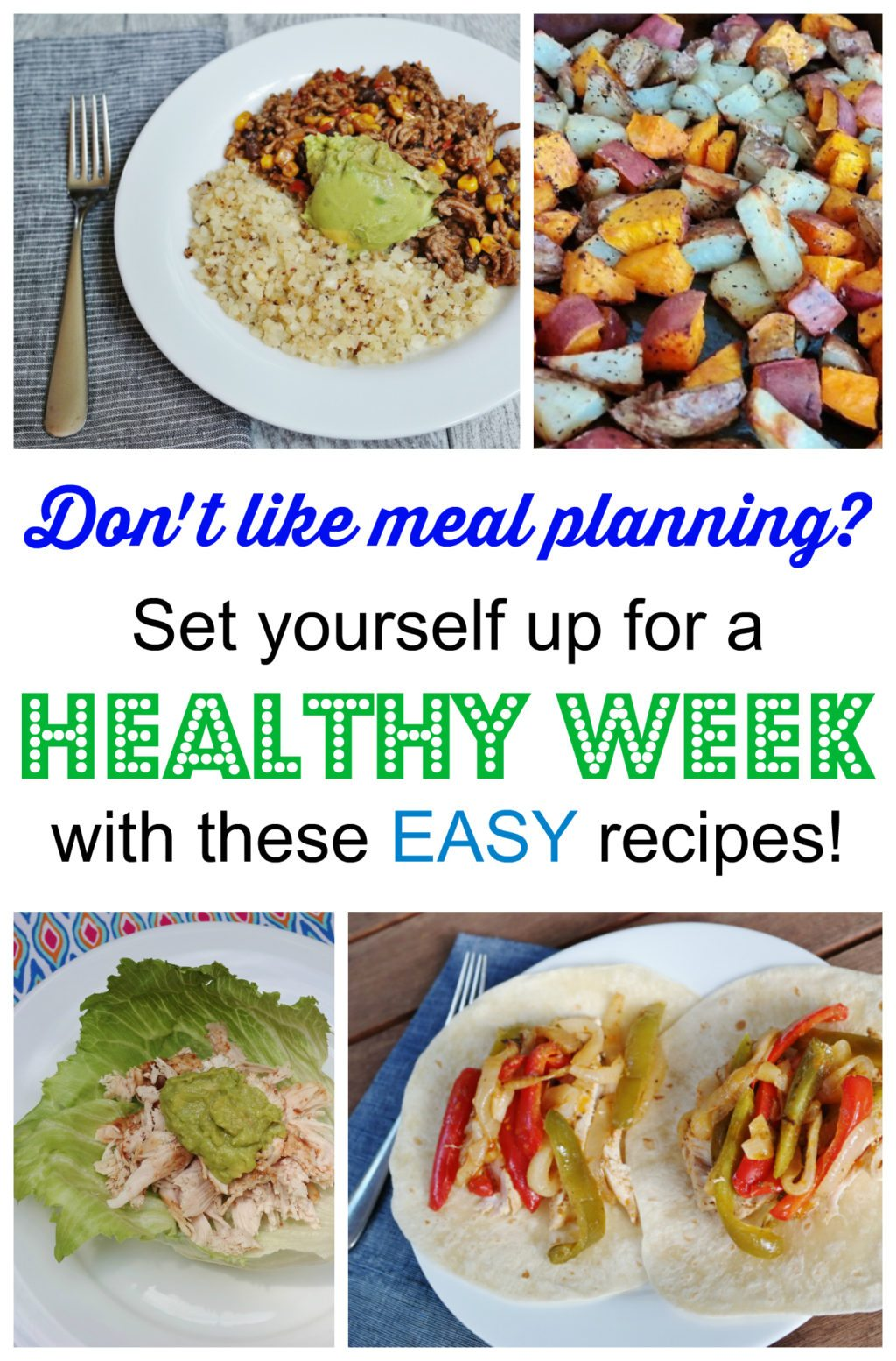 set yourself up for a healthy week with these easy recipes