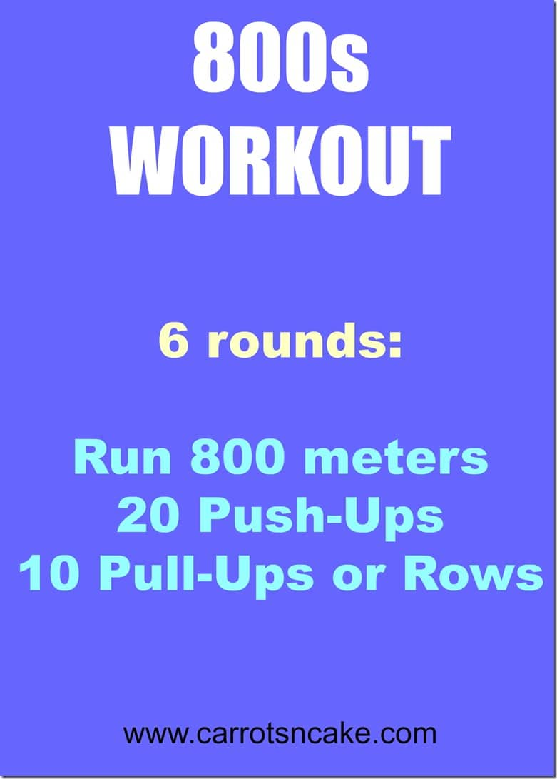 800s running workout