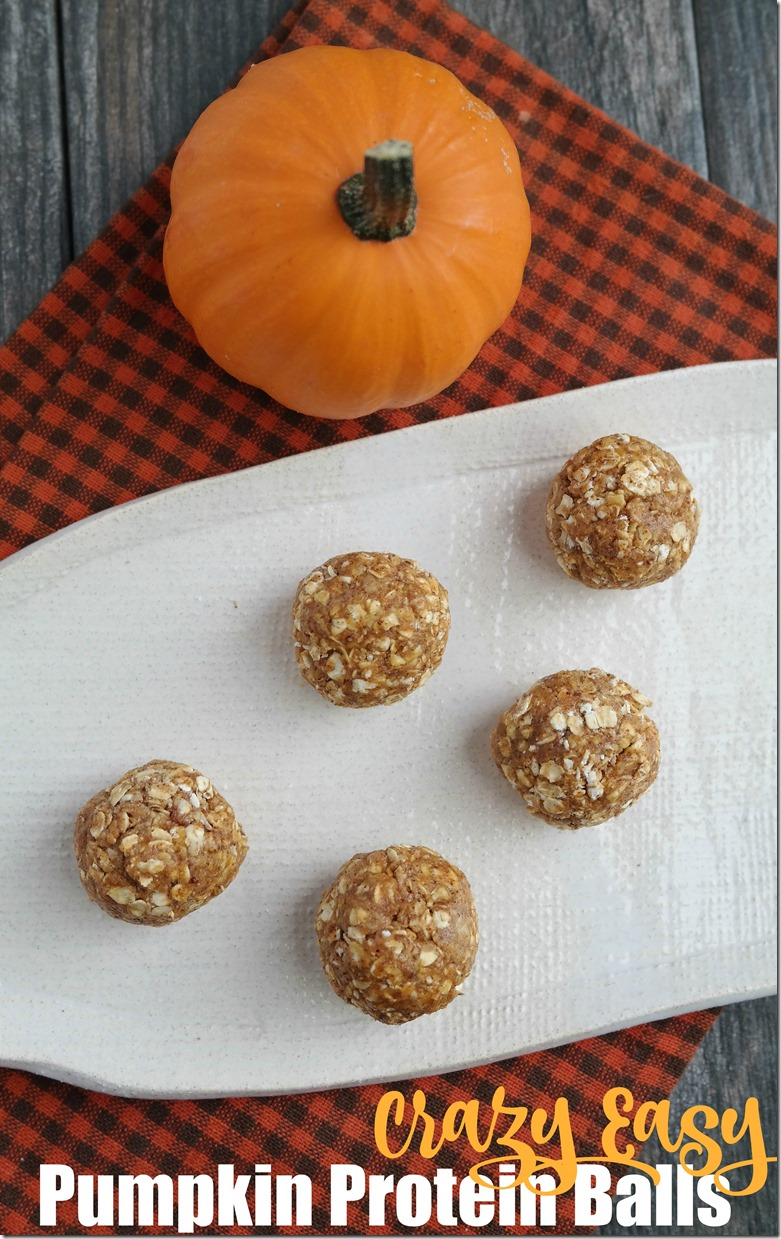 Crazy Easy Pumpkin Protein Balls