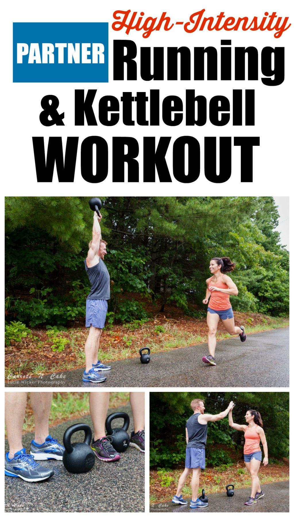 Partner Running & Kettlebell Workout