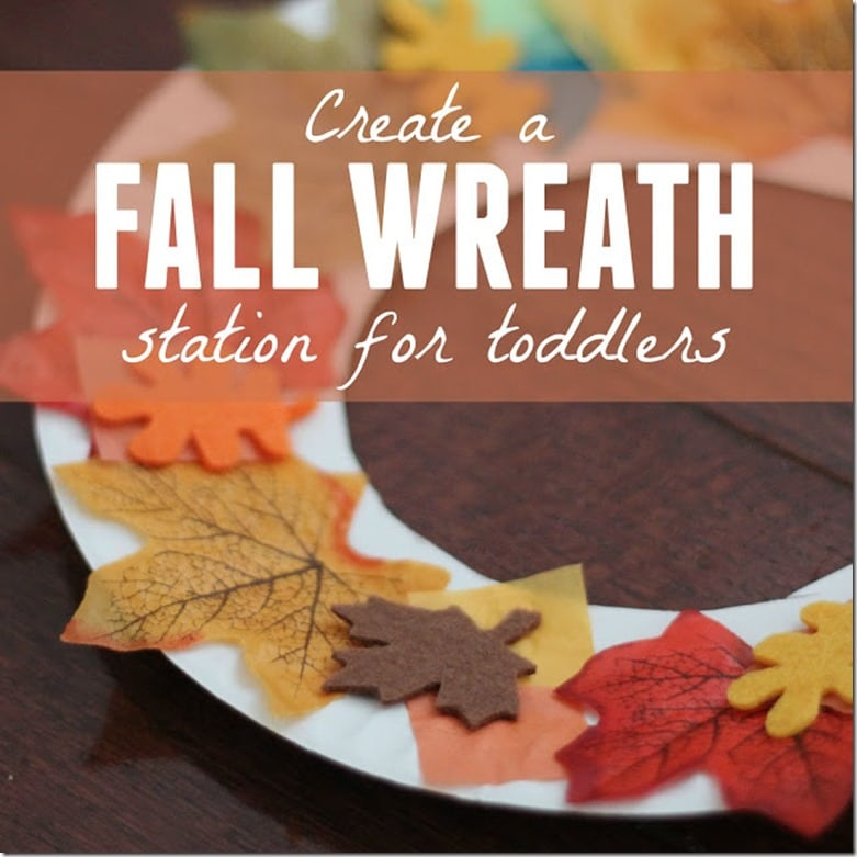 fall wreath station toddlers square