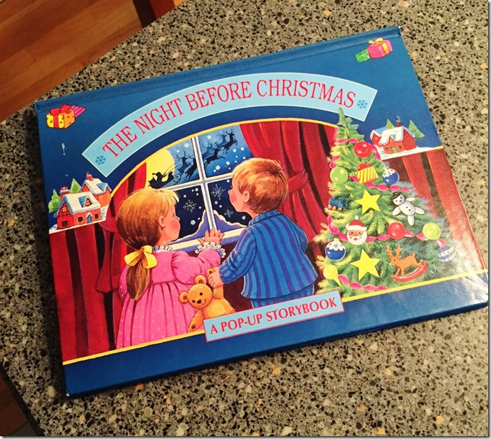 then night before christmas pop-up book