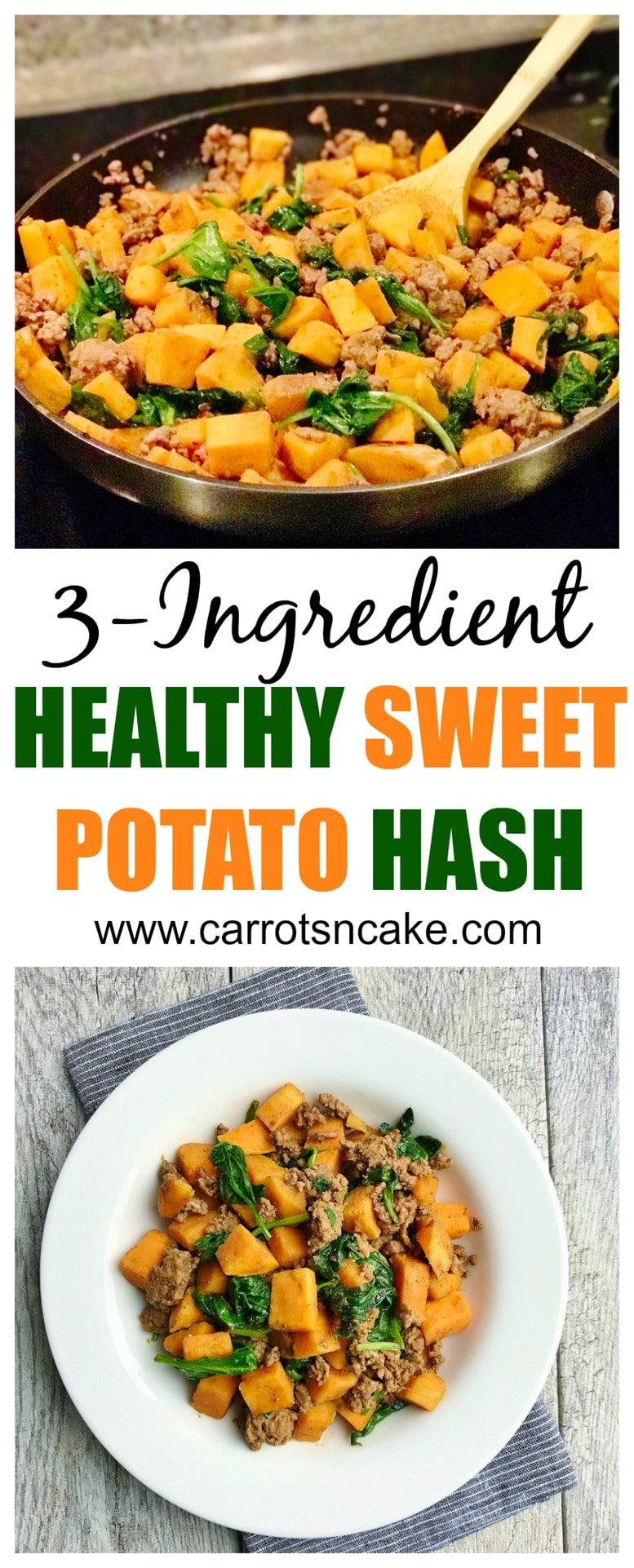 3-Ingredient Healthy Sweet Potato Hash
