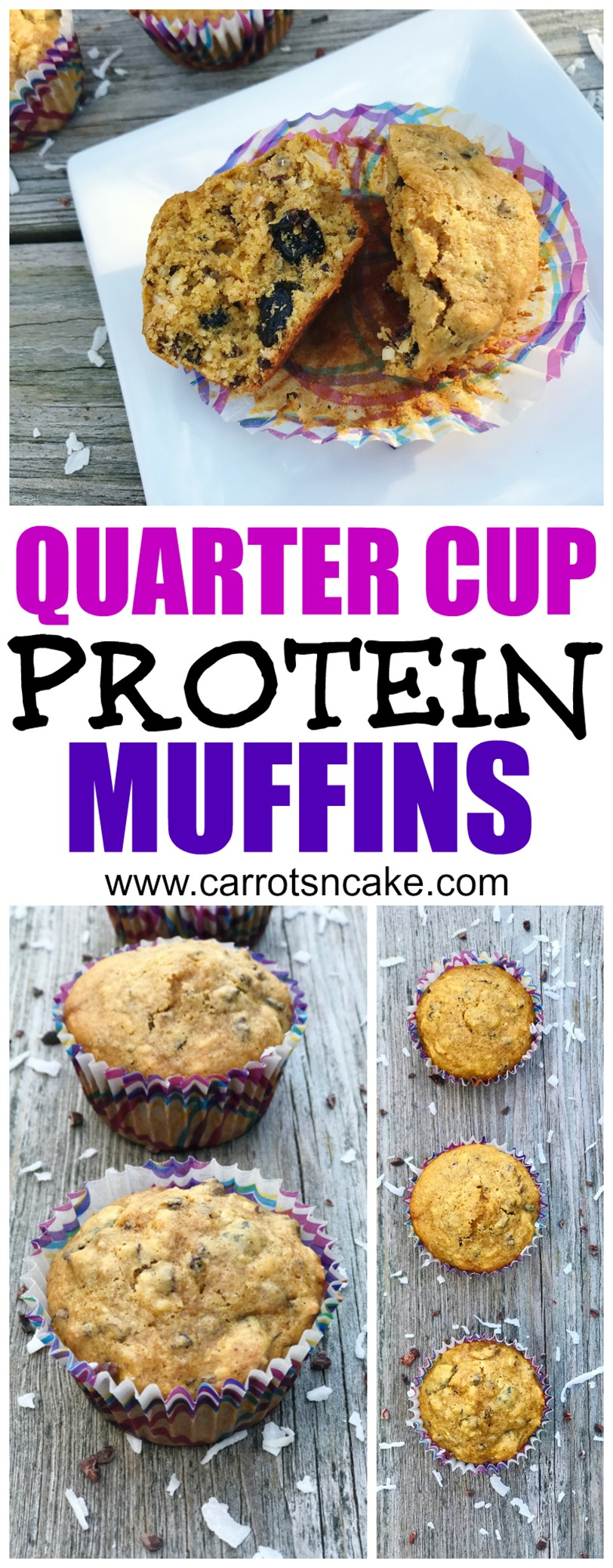 QUARTER CUP PROTEIN MUFFINS