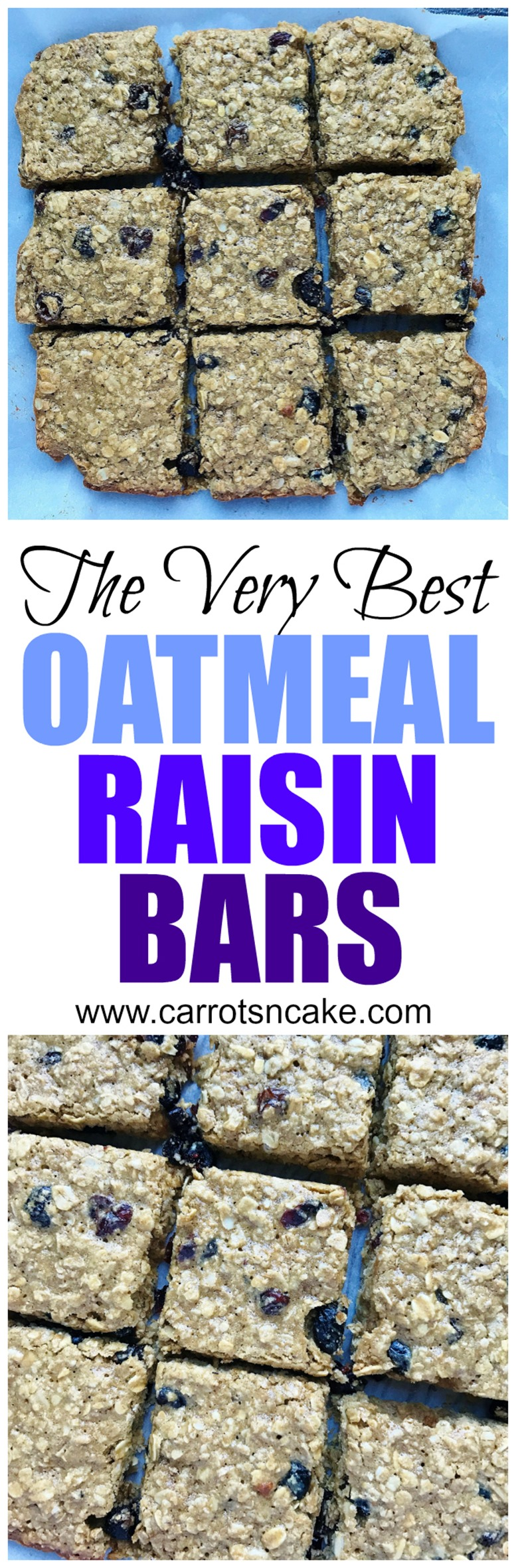 The Best Oatmeal Raisin Bars