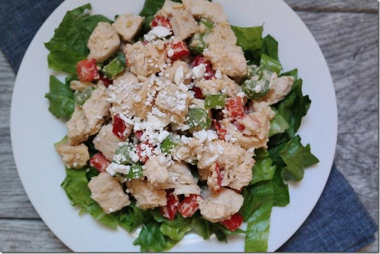 hummus chicken salad