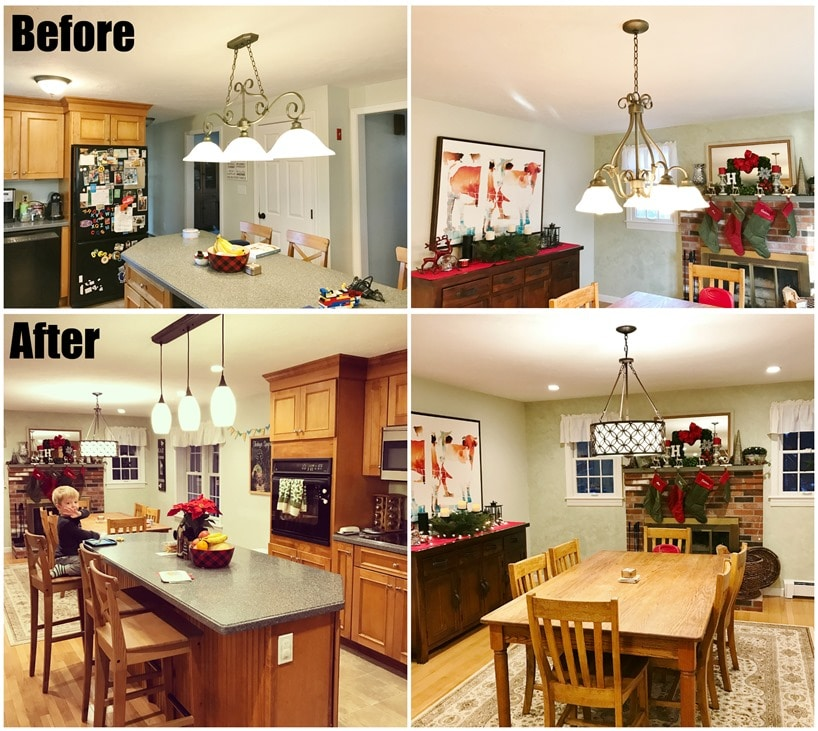kitchen fixtures before and after