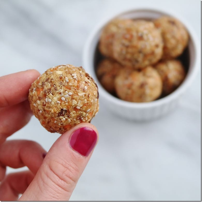 Carrot Cake Protein Balls 2