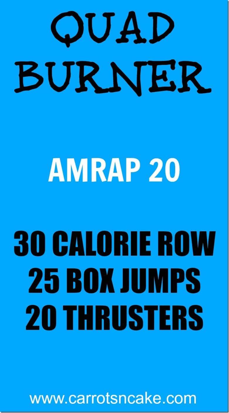 Quad Burner CrossFit Workout