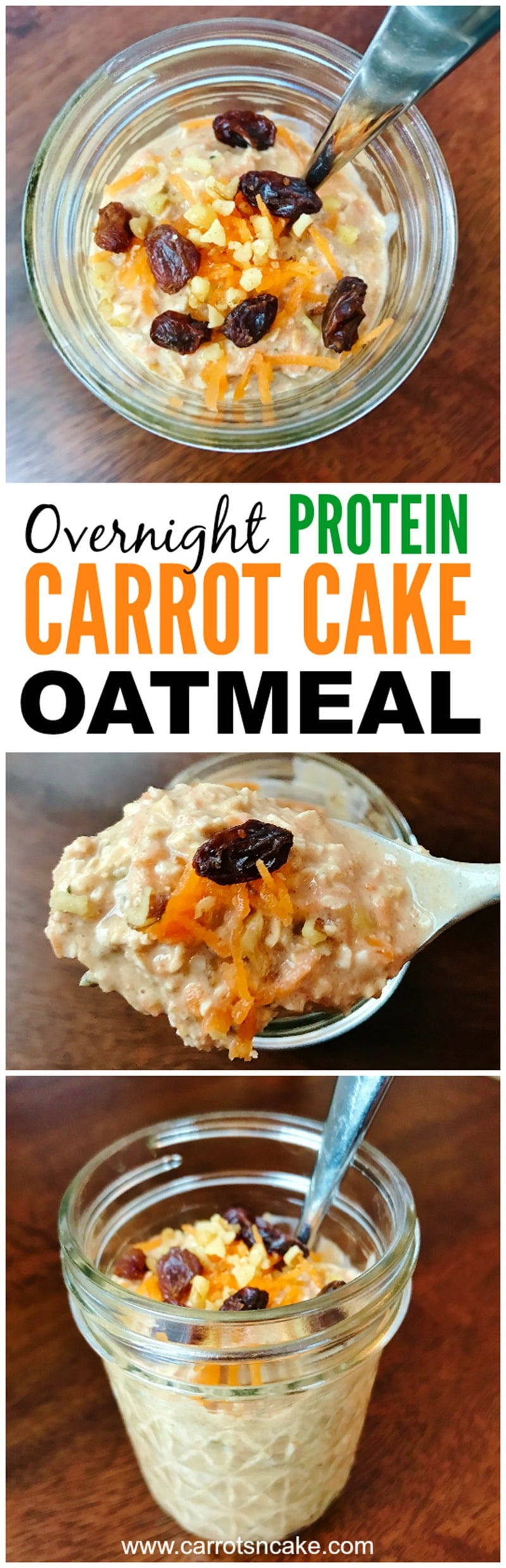OVERNIGHT CARROT CAKE PROTEIN OATMEAL