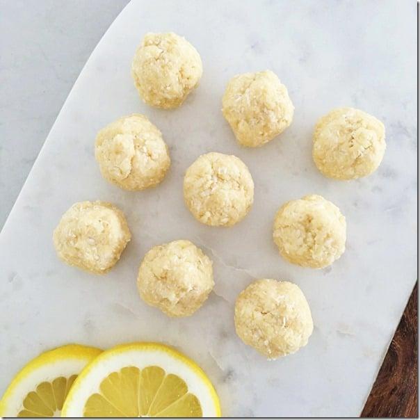 Image result for Lemon Coconut Bliss Balls- Makes 12 balls