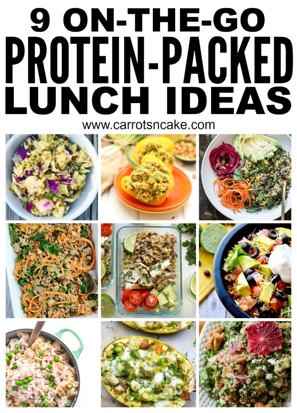 9 protein packed lunch ideas carrots n cake many of these recipes can be made ahead of time easy to bring to work or eat at home and they are all perfect for summertime light refreshing forumfinder Images