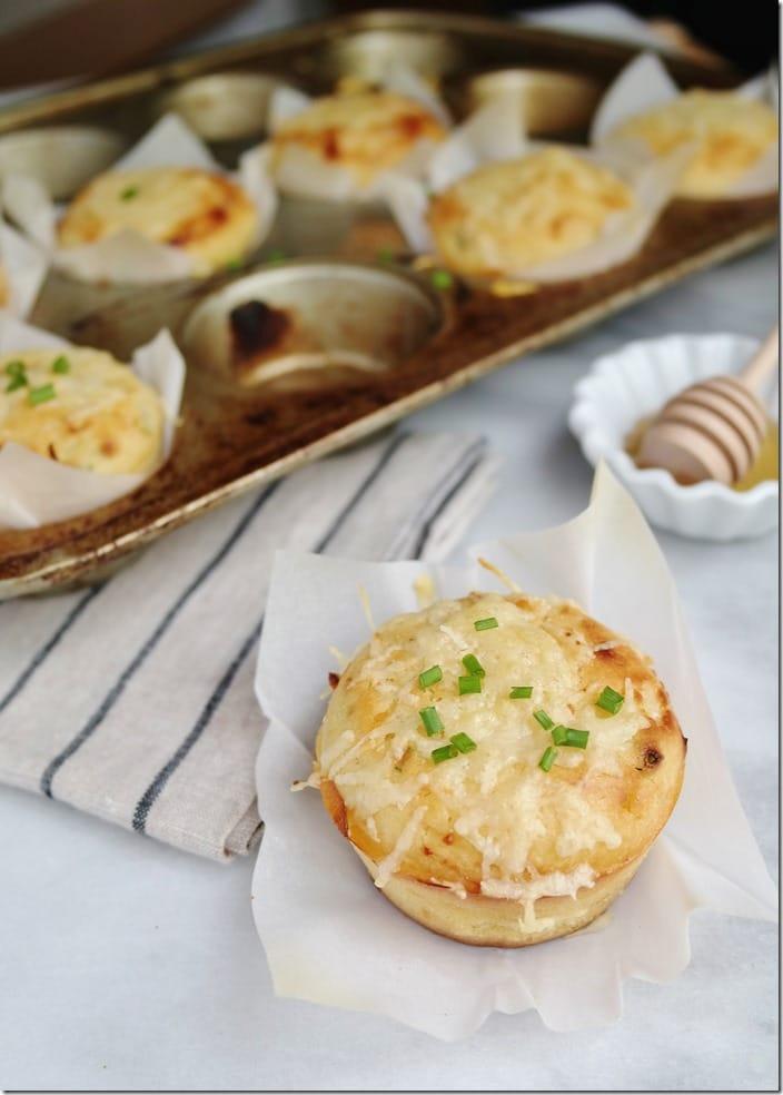 Savory Honey Breakfast Muffins