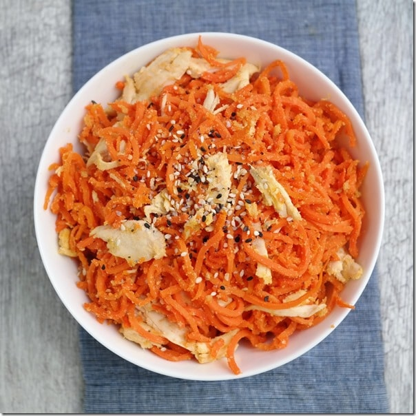 Carrot Chicken Ramen Noodles - Carrots 'N' Cake