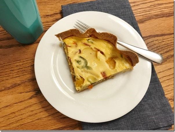 easy tortilla breakfast quiche oikos