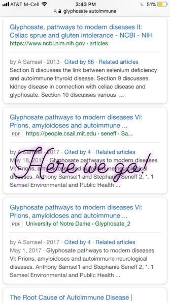 Glyphosate Autoimmune disease
