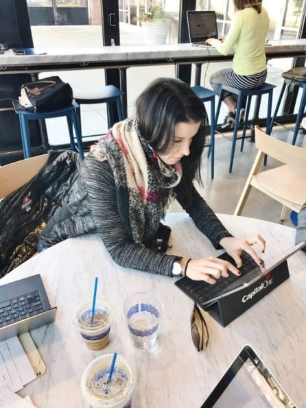 Busy As a Badge of Honor - working at the capital one cafe