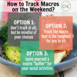 how to track macros on the weekend