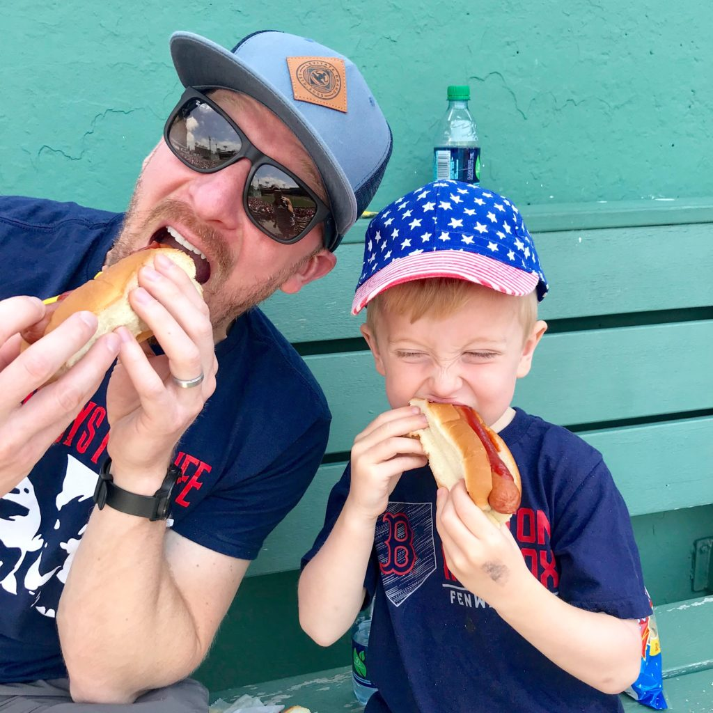 Eating Fenway Franks at Fenway Park