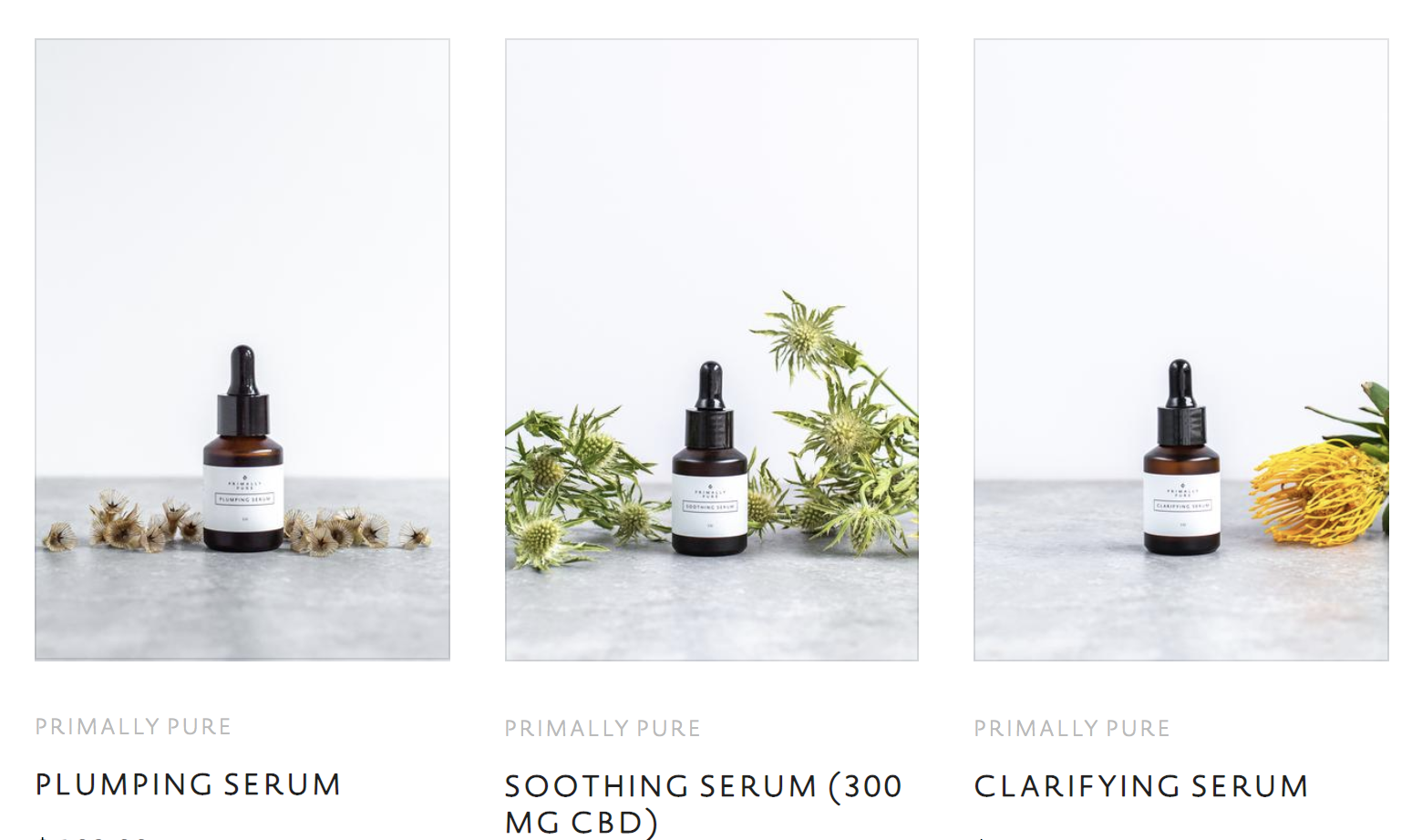 Primally Pure Serums