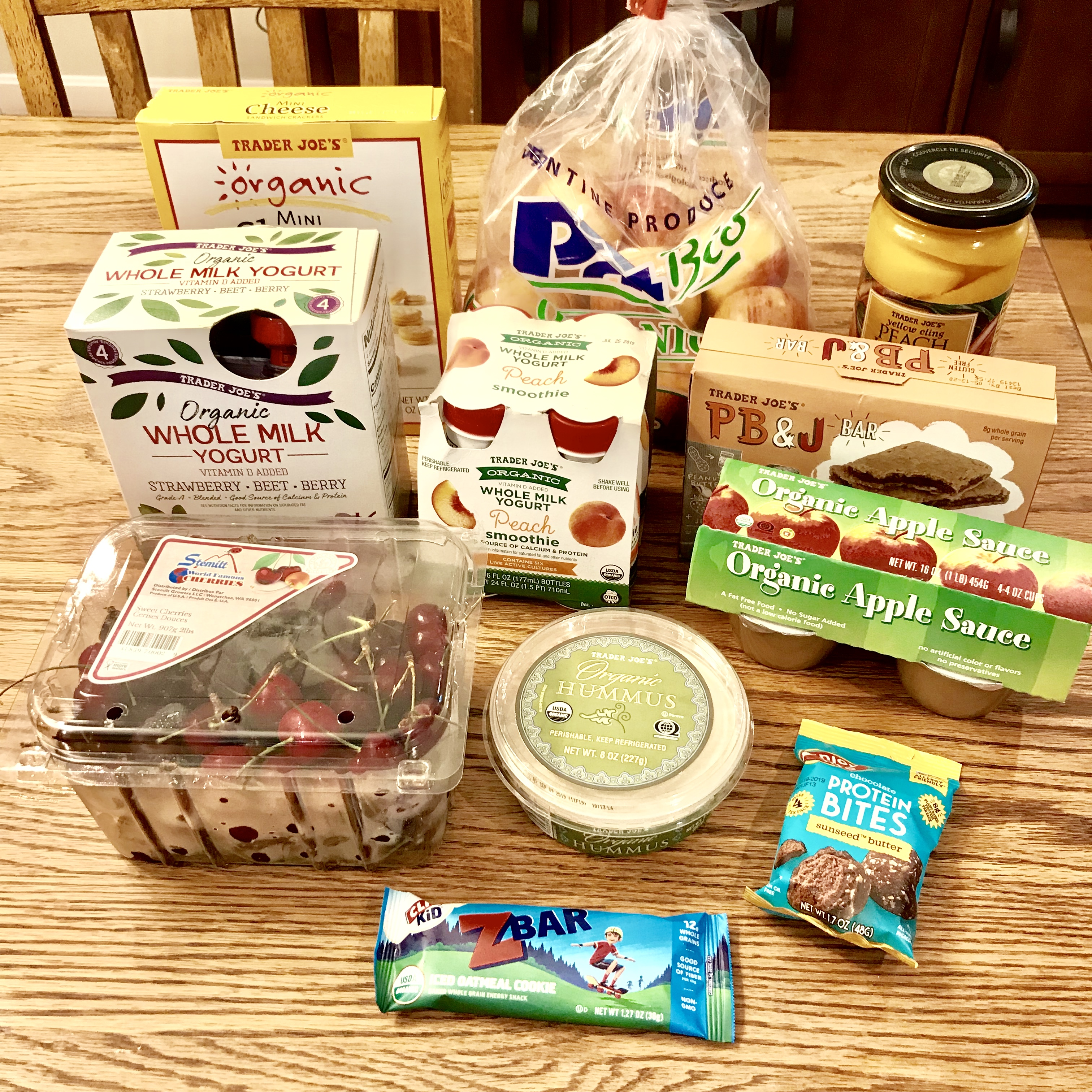 Healthy lunchbox foods options from Trader Joe's