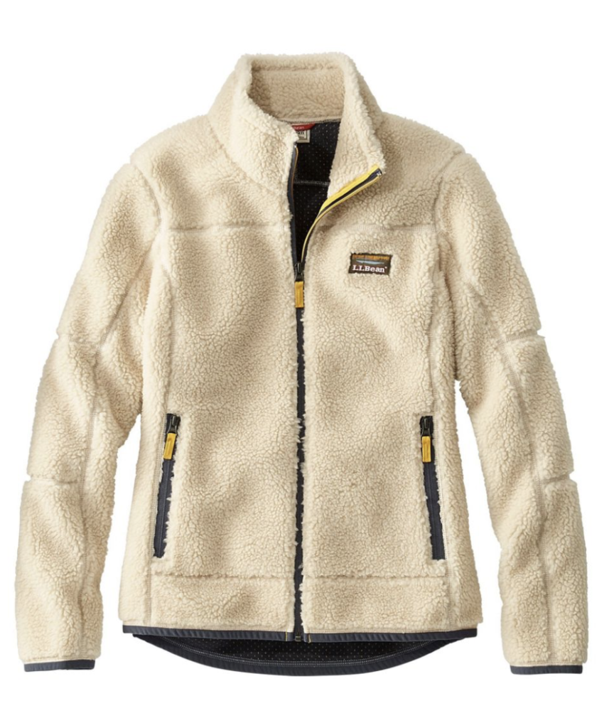 L.L. Bean White Pile Fleece image save 25% with code SAVE25
