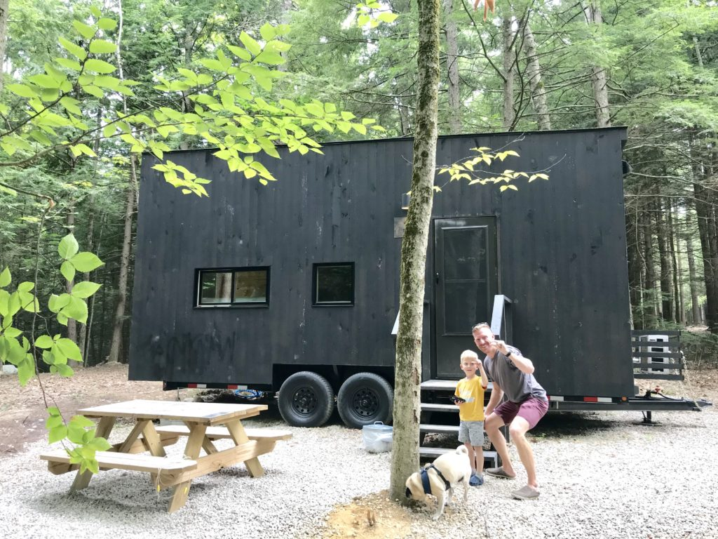 photo of outside a tiny house at Getaway Boston New Hampshire location