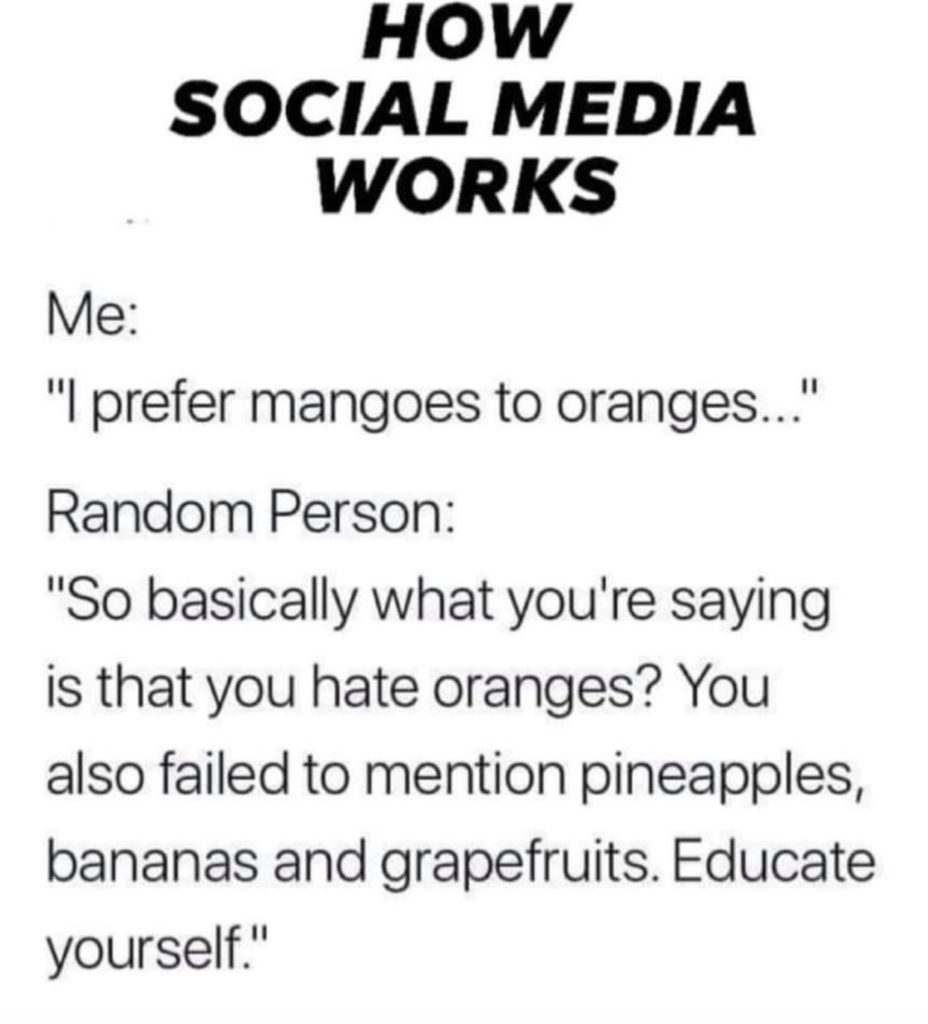 how social media works meme