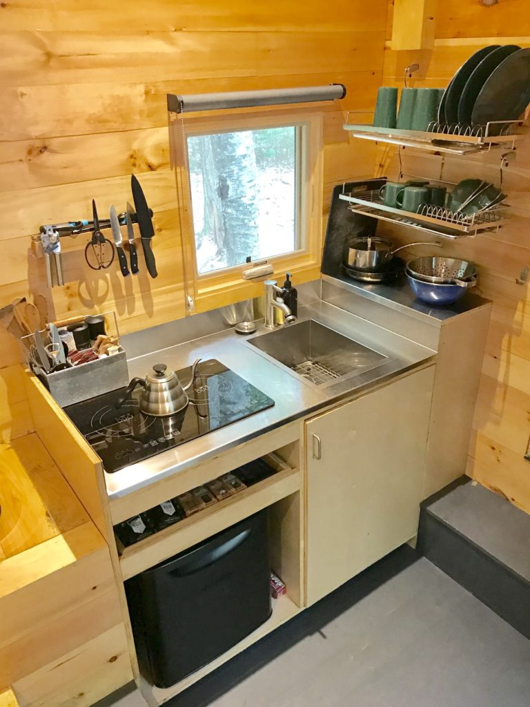 Review of Getaway Boston tiny house kitchen photo