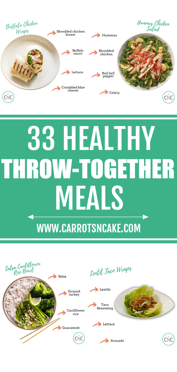 healthy throw-together meals