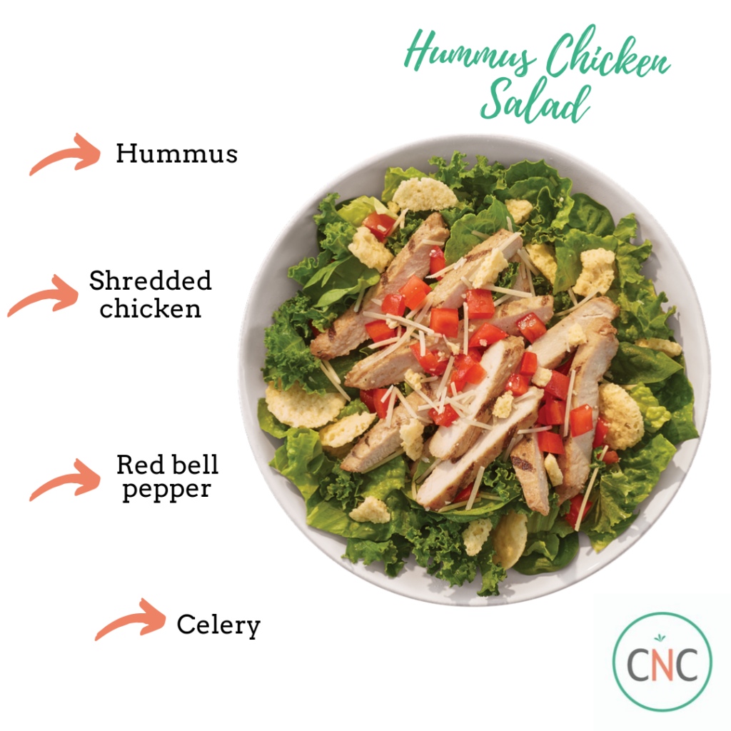hummus chicken salad 33 Healthy Throw-Together Meals