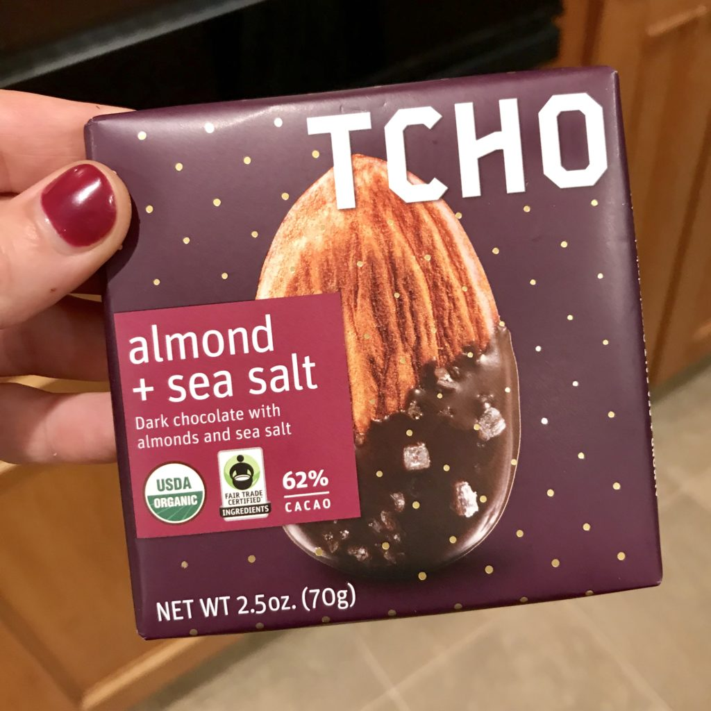 TCHO chocolate almond + sea salt