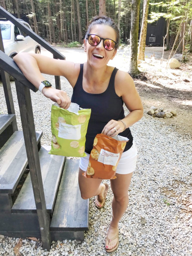 camping with brandless snacks; brandless review