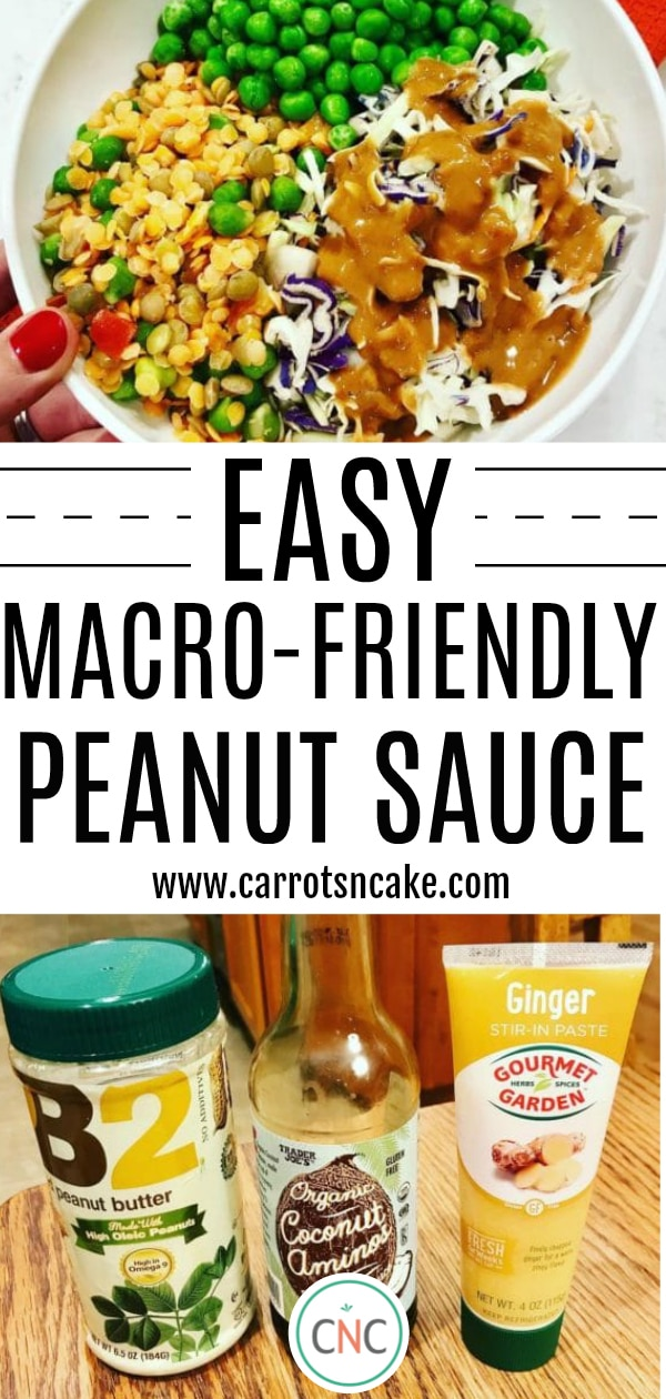 Ingredients for Easy Macro-Friendly Peanut Sauce