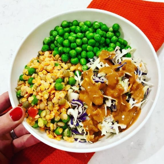 Protein Bowl with Easy Macro-Friendly Peanut Sauce