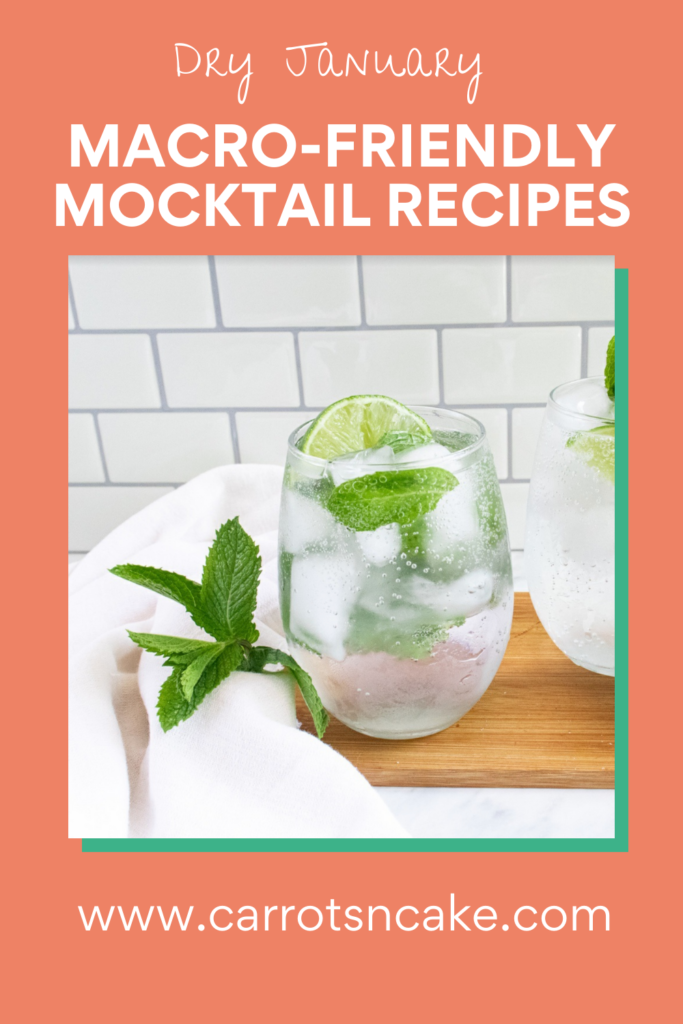 Mojito mocktail in clear glass with fresh mint and lime.