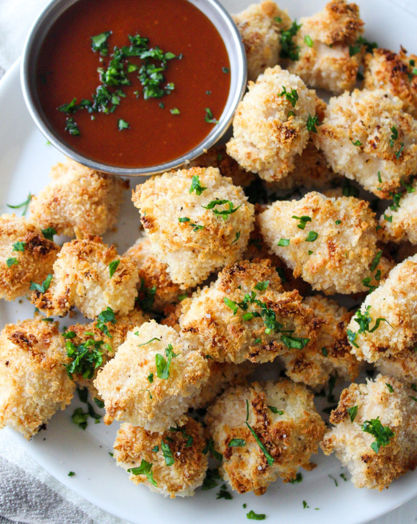 Healthy Baked Popcorn Chicken